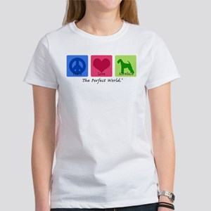 Peace Love Airedale Women's T-Shirt