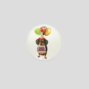 Black Doxie Birthday Mini Button