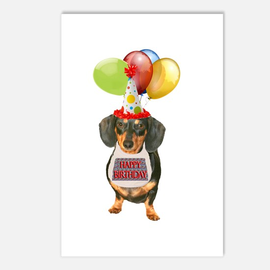 Black Doxie Birthday Postcards (Package of 8)
