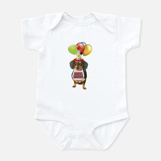 Black Doxie Birthday Infant Bodysuit