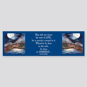 Moonlight Crow Raven Bumper Sticker