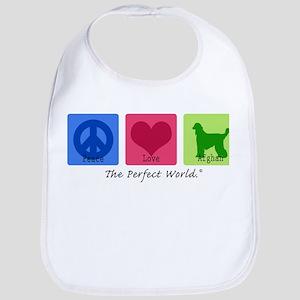 Peace Love Afghan Bib