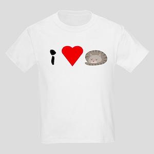 Gray Cat Kids Light T-Shirt
