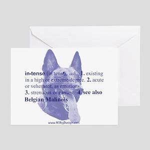 Intense--Belgian Malinois Greeting Cards (Pk of 10