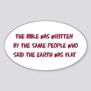 Flat Earth Bible Sticker (Oval)