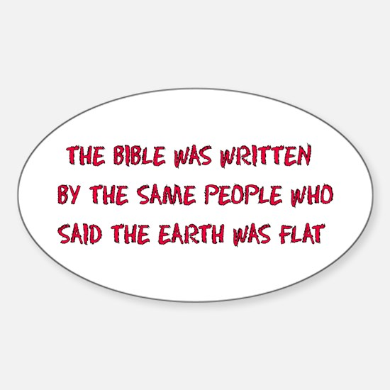 Flat Earth Historians Oval Decal