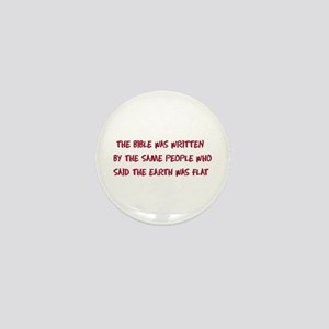 Flat Earth Bible Mini Button