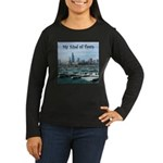 Chicago Skyline Women's Long Sleeve Dark T-Shirt