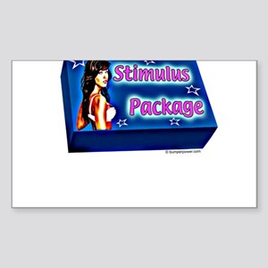 STIMULUS PACKAGE Rectangle Sticker