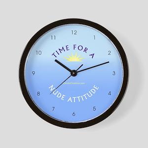 Nude Attitude blue - Wall Clock