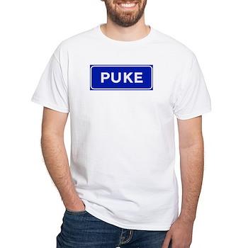 Puke, Albania White T-Shirt