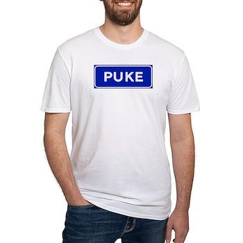 Puke, Albania Fitted T-Shirt