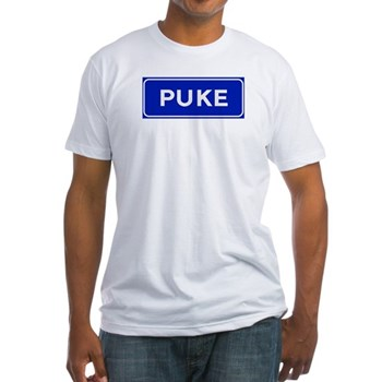 Puke, Albania Fitted T-Shirt