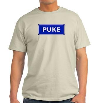 Puke, Albania Light T-Shirt