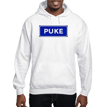 Puke, Albania Hooded Sweatshirt