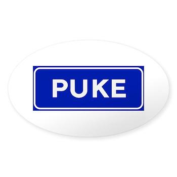 Puke, Albania Oval Sticker