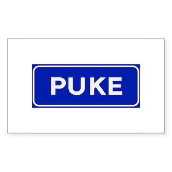 Puke, Albania Rectangle Sticker