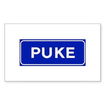 Puke, Albania Rectangle Sticker