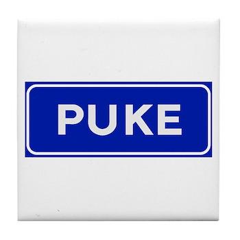 Puke, Albania Tile Coaster