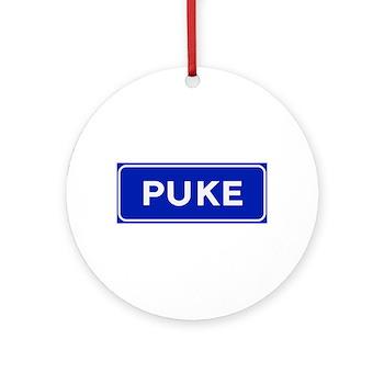 Puke, Albania Ornament (Round)