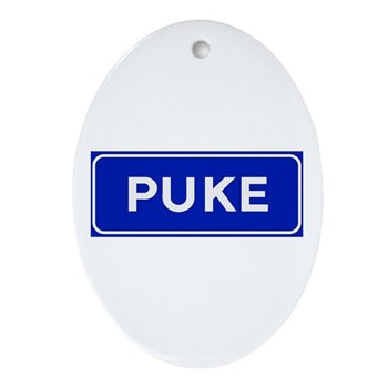 Puke, Albania Oval Ornament