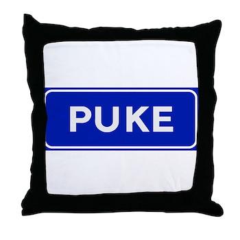Puke, Albania Throw Pillow