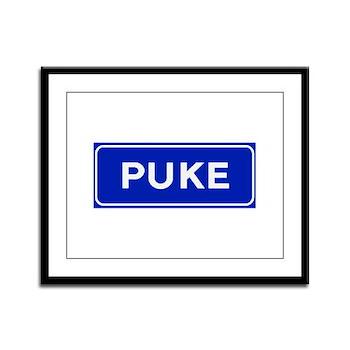 Puke, Albania Framed Panel Print