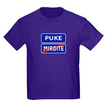 Puke, Albania Kids Dark T-Shirt