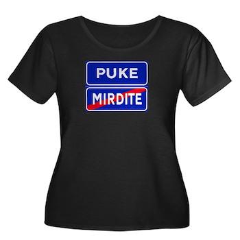 Puke, Albania Women's Plus Size Scoop Neck Dark T-