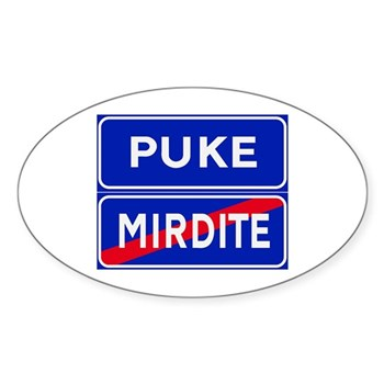 Puke, Albania Oval Sticker (10 pk)
