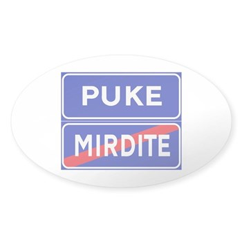 Puke, Albania Oval Sticker (50 pk)