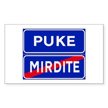 Puke, Albania Rectangle Sticker 10 pk)