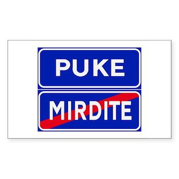Puke, Albania Rectangle Sticker 50 pk)