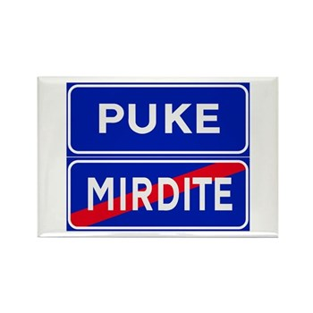 Puke, Albania Rectangle Magnet (100 pack)