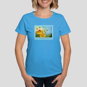 Summer Blue Garden CAT Women's Dark T-Shirt