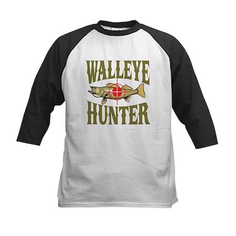 Walleye Hunter Kids Baseball Jersey