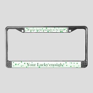 lucky enough License Plate Frame