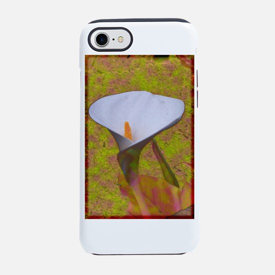 Calla Lily with Pastels iPhone 7 Tough Case