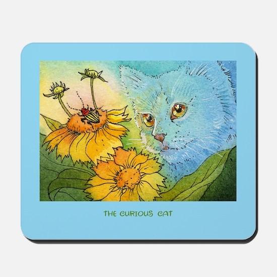 Summer Blue Garden CAT Mousepad