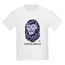 A Bathing Gargoyle (Light) Kids Light T-Shirt