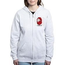 A Communist Ape (Light) Women's Zip Hoodie