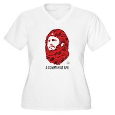 A Communist Ape (Light) Women's Plus Size V-Neck T