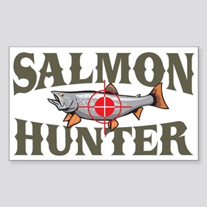 Salmon Hunter Rectangle Sticker