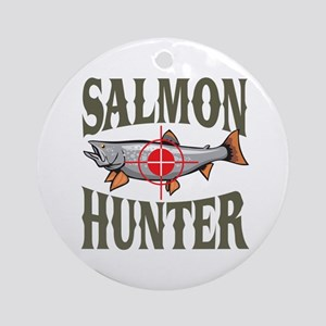 Salmon Hunter Ornament (Round)