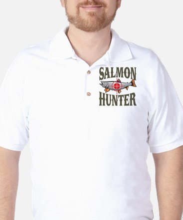 Salmon Hunter Golf Shirt