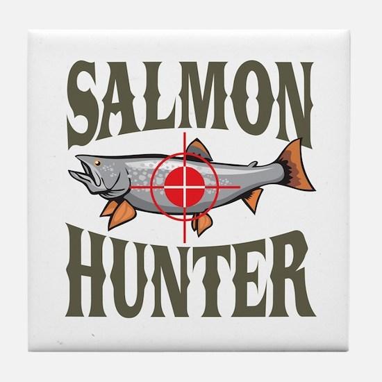 Salmon Hunter Tile Coaster