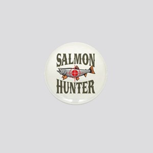 Salmon Hunter Mini Button