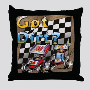 """Got Dirt?"" Throw Pillow"