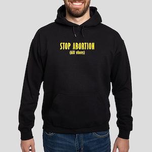 Stop Abortion Hoodie (dark)