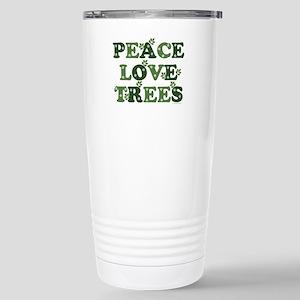 Peace Love Trees Stainless Steel Travel Mug